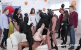 Bokep Anal Halloween #1 Anna de Ville shows everyone how to handle multiple dicks, Balls Deep Anal, DAP, Gapes GIO1256